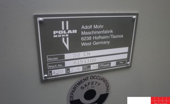 polar 58 em guillotine for sale