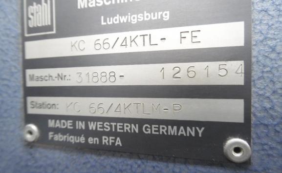 STAHL PAPER FOLDING MACHINE KC 66 4KTL