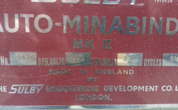 SULBY MK II PERFECT BINDER