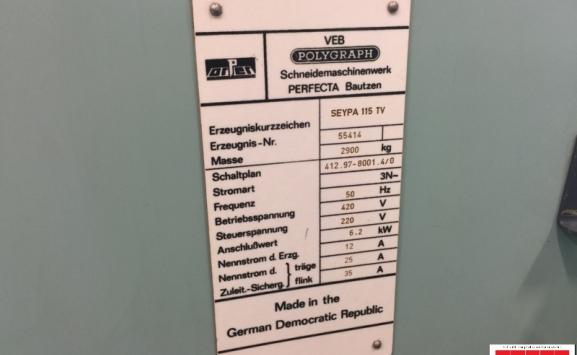 PERFECTA SEYPA 115 TV GUILLOTINE