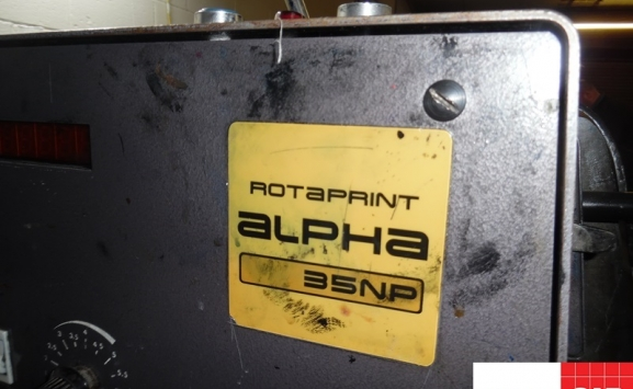 Used Rotaprint Alpha 35NP one colour offset