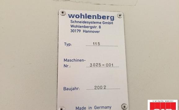 wohlenberg 115 paper cutter