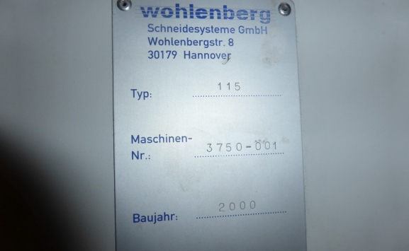 WOHLENBERG 115 CUT-TECH GUILLOTINE