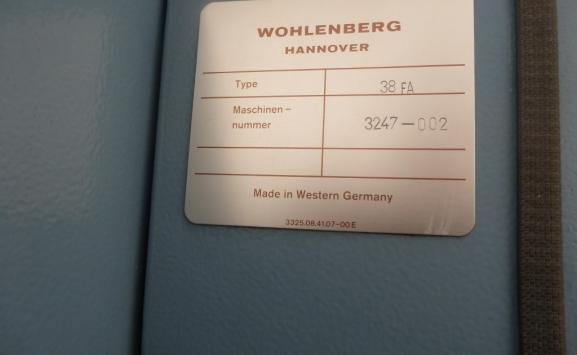 WOHLENBERG 38FA THREE KNIFE TRIMMER