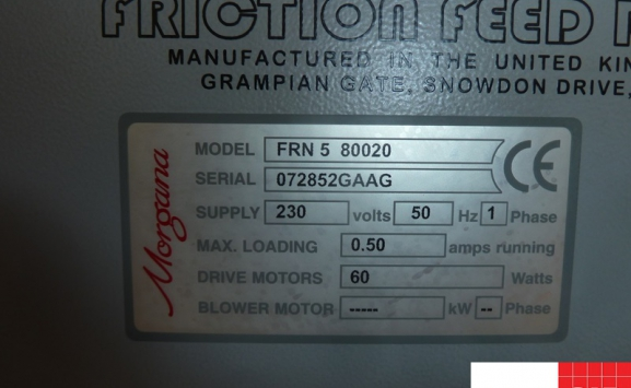 morgana frn5 automatic numbering & perforating machine