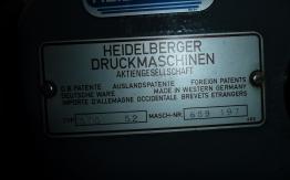 HEIDELBERG GTO 52 (1987) OFFSET
