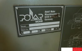 USED POLAR 76 EM PAPER GUILLOTINE FOR SALE