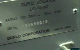 DUPLO SYSTEM 4000 BOOKLET MAKER