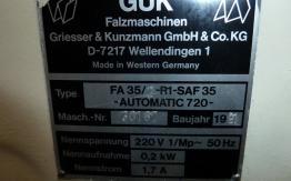 GUK SAF 35-2 PAPER FOLDER