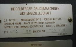 USED HEIDELBERG GTO 52 OFFSET