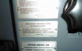 1989 HEIDELBERG GTO52 TWO COLOUR OFFSET