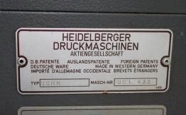 HEIDELBERG SORM OFFSET