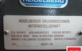 used Heidelberg GTO 52 one colour offset