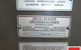 Heidelberg GTO 46 NP single colour offset