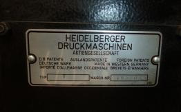 HEIDELBERG 10 x 15 PLATEN DIE CUTTER