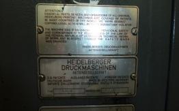 HEIDELBERG GTO 46 V 4 COLOUR OFFSET