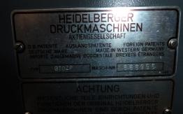 HEIDELBERG GTO 46 ZP TWO COLOUR OFFSET