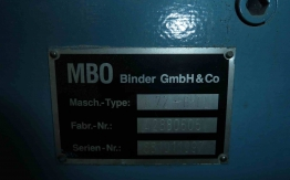 MBO PAPER FOLDING MACHINE K-72 6KTL