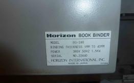 USED PERFECT BINDER HORIZON BQ 240