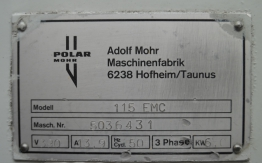 POLAR 115 EMC PAPER CUTTING GUILLOTINE