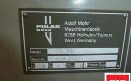 Used Polar 76 em guillotine