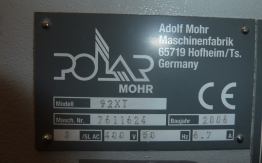 POLAR 92 XT PAPER CUTTING MACHINE
