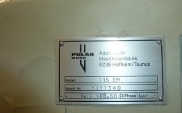 POLAR 115 EM GUILLOTINE