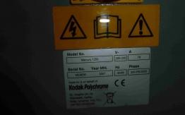 KODAK PLATE PROCESSOR MERCURY 1250