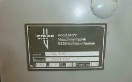 USED POLAR 55EM GUILLOTINE