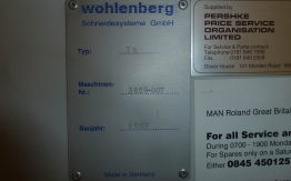 WOHLENBERG 76 CUT-TECH GUILLOTINE