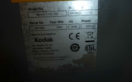 KODAK MERCURY 1250 PLATE PROCESSOR