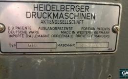 HEIDELBERG GTO 46 SINGLE COLOUR OFFSET