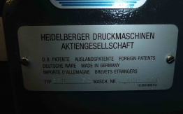 HEIDELBERG GTO 52-1 ONE COLOUR OFFSET