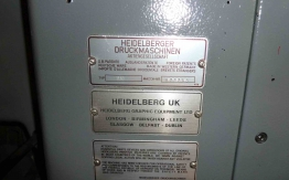 HEIDELBERG GTO46 NP ONE COLOUR