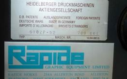 HEIDELBERG GTO 52 ZP OFFSET