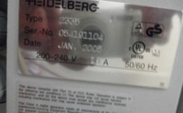 HEIDELBERG TOPSETTER P74 CTP SYSTEM