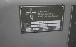 POLAR 92EM GUILLOTINE FOR SALE