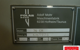 used polar 76 paper cutting guillotine