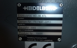 HEIDELBERG STAHL KD 66 4KTL PAPER FOLDER
