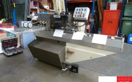 Rosback twin head saddle stitcher with on-line trimmer
