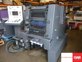Two colour used offset printing machines Heidelberg GTOZ-S 52 two colour offset