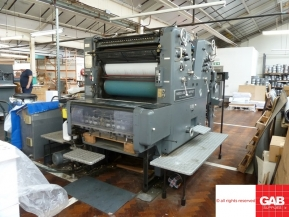 Two colour used offset printing machines 1979 Used Heidelberg SORDZ two color offset