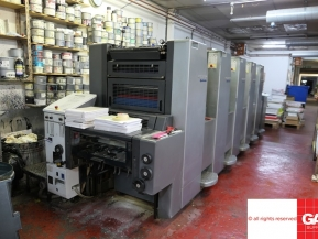 Five colour used offset printing machines Heidelberg SpeedMaster SM 52-5 five colour offset