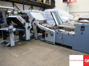 Used folder machines Heidelberg StahlFolder Ti55/6-52/4-Ri55 paper folding machine with continuous feeder