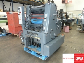 Single colour used offset printing machines 1992 Heidelberg GTO 52 one colour offset with Numbering
