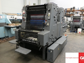 Two colour used offset printing machines Heidelbrg MOZP-E two color offset printing machine