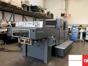 Two colour used offset printing machines Heidelberg MOZP-H two colour offset - fully rebuild