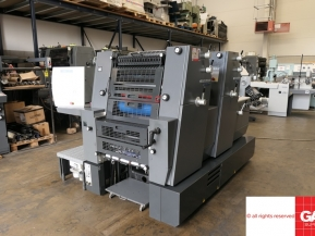 Two colour used offset printing machines Heidelberg GTO/PM 52-2 colour offset