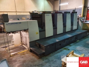 Four colour used offset printing machines Komori Lithrone L428 ES four colour offset