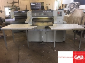 Used guillotine machines Used Polar 92 EM-MON paper cutting machine